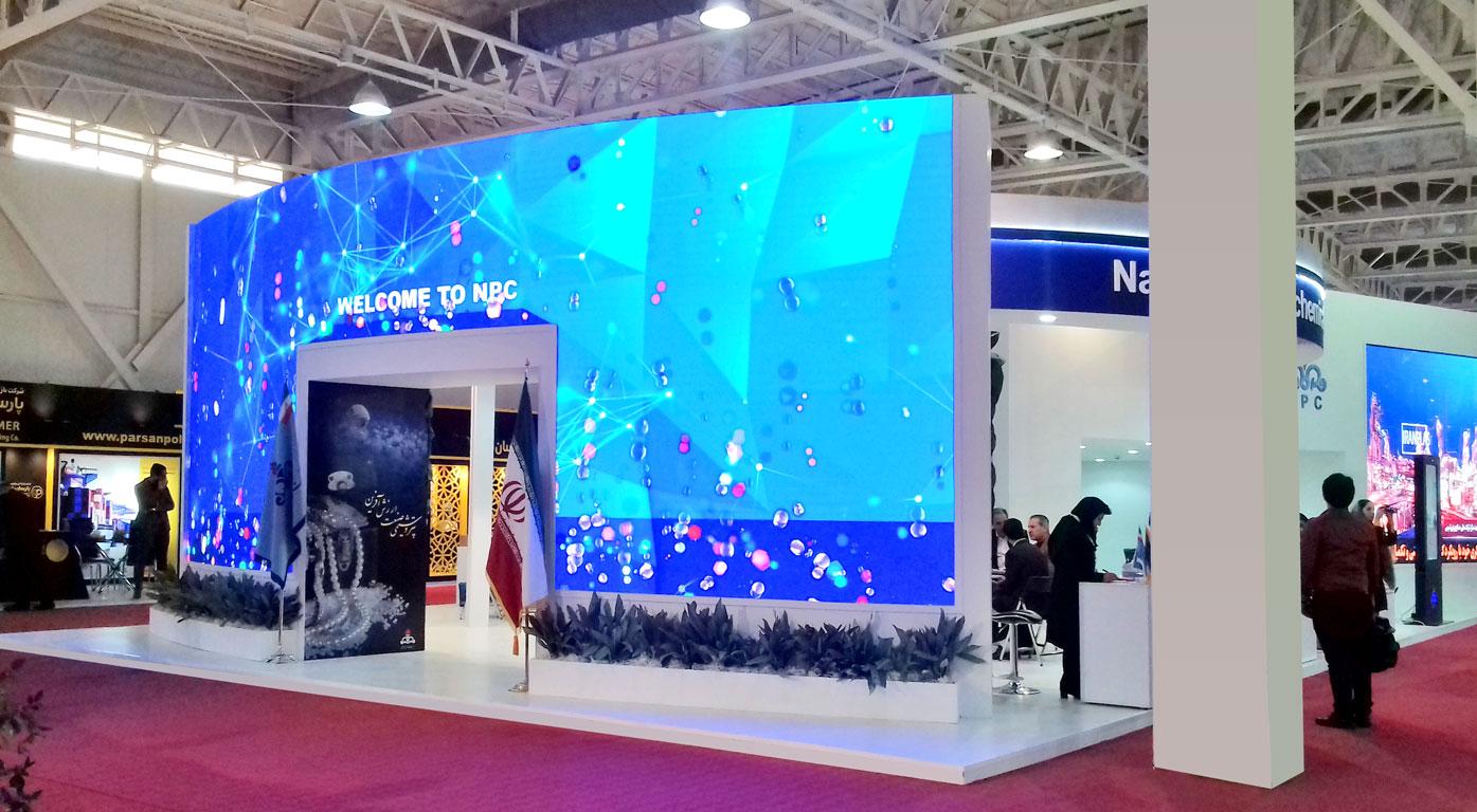 غرفه سازی برای شرکت ملی صنایع پتروشیمی | نمایشگاه ایران پلاست _ NPC Iran Plast 2018