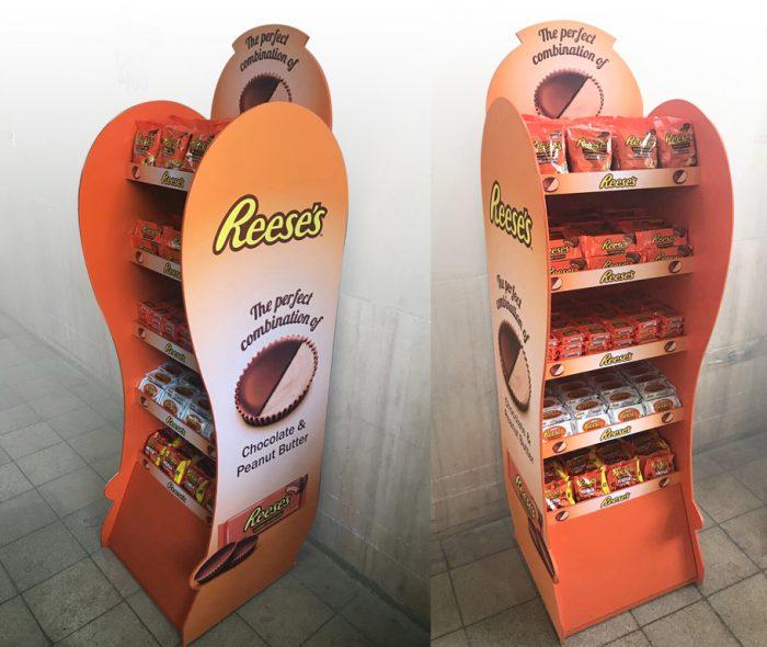 استند فروشگاهی | شکلات ریسه